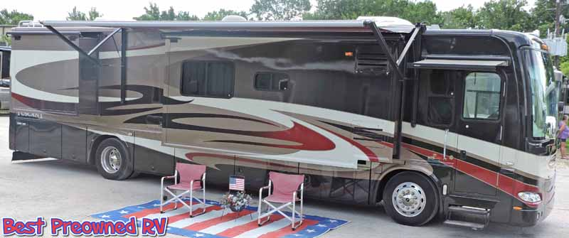 2008 damon tuscany w 3 slides 360 diesel cummins wood floors warranty rh bestpreownedrv com RV Electrical System Wiring Diagram Trailer Wiring Diagram