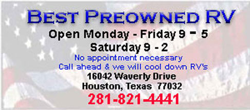 Best Preowned RV Used RV's Motorhomes Houston Texas  Wood Floors Diesels Gas